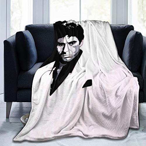 MHOONOW Scarface Movie Ultra-Soft Micro Fleece Throw Blankets for Couch/Living Room/Warm Winter Fur Plush Throw Blanket for Adults Kids