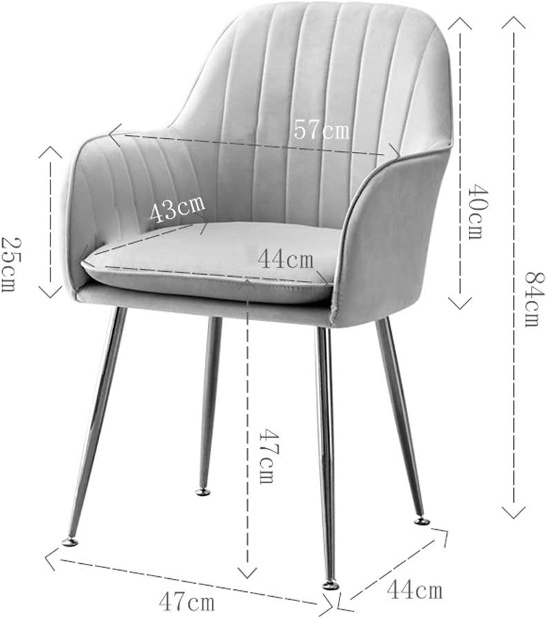 LF Chaise de Salle, Chaise de Bureau Simple, créative Dossier, Chaise Loisirs, Maison Adulte Chaise de Salle Simple (Color : Light Grey) Light Blue
