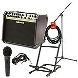 Fishman PRO-LBX-600 Loudbox Artist Acoustic Guitar Amp w/Amp Stand, Microphone w