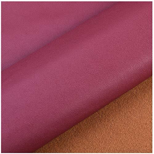 Cuero Artificial Rojo Rosa, Cuero Artificial Impermeable E Ignífugo De 0,5mm De Espesor, Tela De Vinilo Interior De La Cubierta Del Asiento Del Coche Del Sofá Vendida Por Metro (138cm * 100cm(Size:3M)