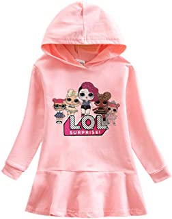 HengQiao Beauty LOL Dress Clothing Outfit for Girls- Pink Cotton Dress for Birthday for Autumn and Winter.
