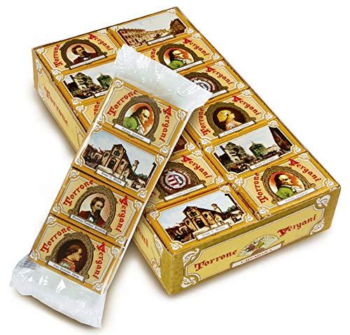 Confezione di 24 Torroncini da 12 Gr. l'uno friabili alle mandorle incartati singolarmente con immagini di Cremona