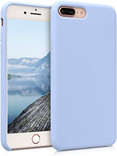 kwmobile TPU Silicone Case for Apple iPhone 7 Plus / 8 Plus - Soft Flexible Rubber Protective Cover - Light Blue