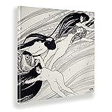 Giallobus - Gemälde - Gustav Klimt - Fischblut - Leinwand - 100x100 - Bereit zum Aufhängen - Moderne Gemälde für zu Hause