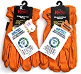 Kinco - 81, Buffalo Leather Work Gloves for Men, 2-pack of Kinco's Toughest & Durable with Nikwax Waterproofing (Medium)