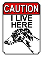 ここに住んでいます メタルポスタレトロなポスタ安全標識壁パネル ティンサイン注意看板壁掛けプレート警告サイン絵図ショップ食料品ショッピングモールパーキングバークラブカフェレストラントイレ公共の場ギフト