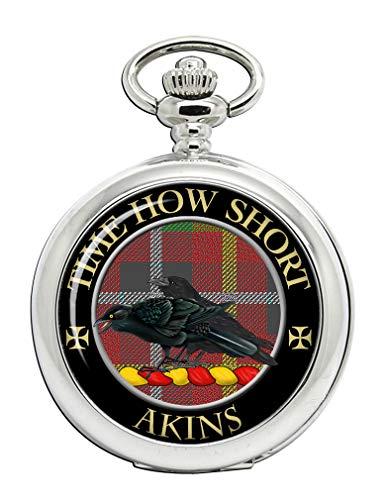 Akins Scottish Clan Crest - Reloj de bolsillo