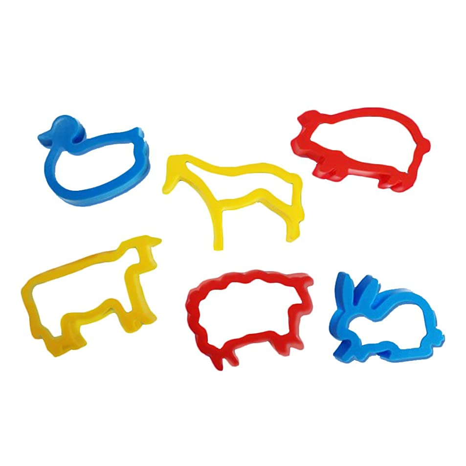SELIFY 6pcs Smart Dough Tools Kits Farm Animal Cookie Cutter Set Educational Toys for Kids(Random Color) rxsqfkxg0853