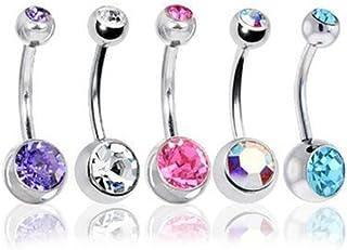 20x Tongue Nipple Eyebrow Bar Bars Body Piercing Jewellery Rings MakeuCC