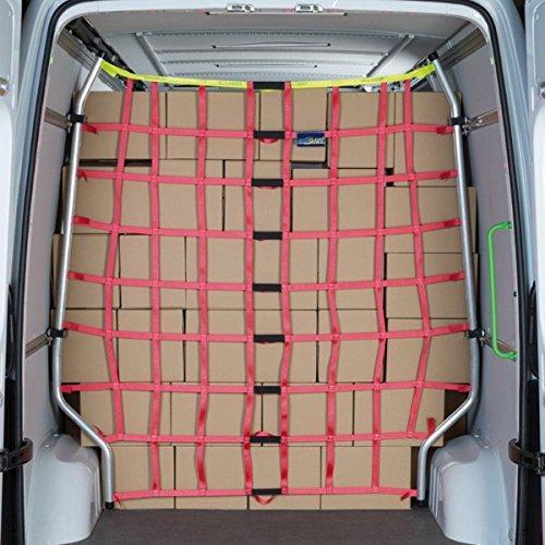 kuriershop Ladungssicherungsnetz für Transporter, mit Aluminium-Gestänge, für Sprinter/Crafter