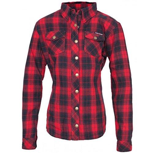 Queen Kerosin dames biker houthakkers-shirt - Speedjul rood