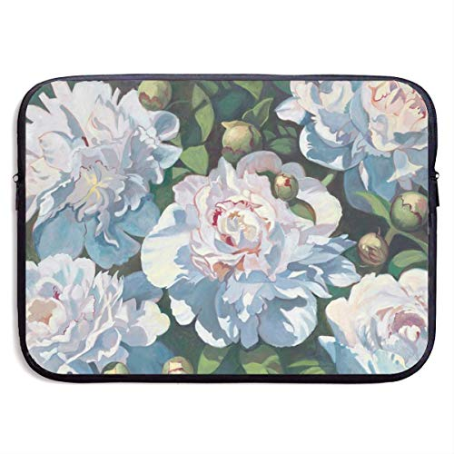 Laptop Sleeve Bag Redsheep Laptop Sleeve Case,White Peony 13/15 Inch Laptop Sleeve Bag Waterproof Computer Case Tablet Carrying Case Cover Bags-Black-13inch,