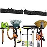 2 Pack Tool Storage Rack Heavy-Duty Metal Garage Wall Mount Organizer Holds Up to Max 200 lbs…