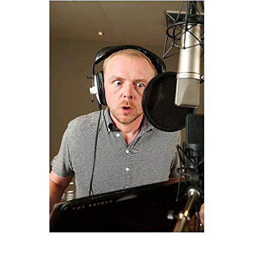 Ice Age 8 Inch x10 Inch Photo Simon Pegg (Buck) in Recording Studio kn
