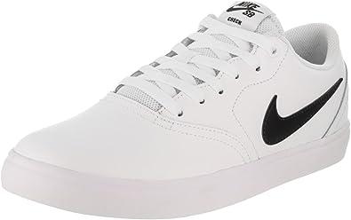 Alas Seminario manguera  Amazon.com | Nike Men's SB Check Solarsoft Skate Shoe (11, White/Black, 11)  | Skateboarding