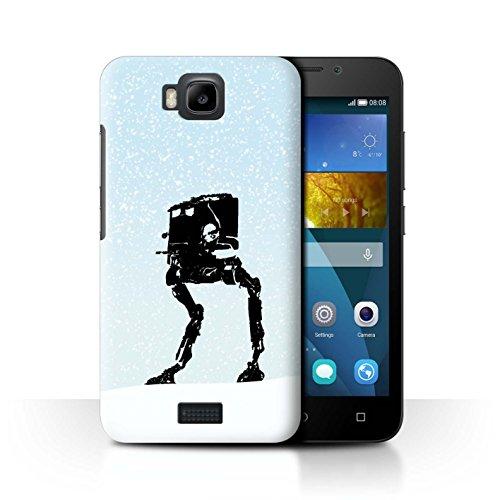 Stuff4® Hülle/Case für Huawei Honor Bee/Y5c / at-ST Inspiriert Muster/Imperium Galaxie Kriege Kollektion