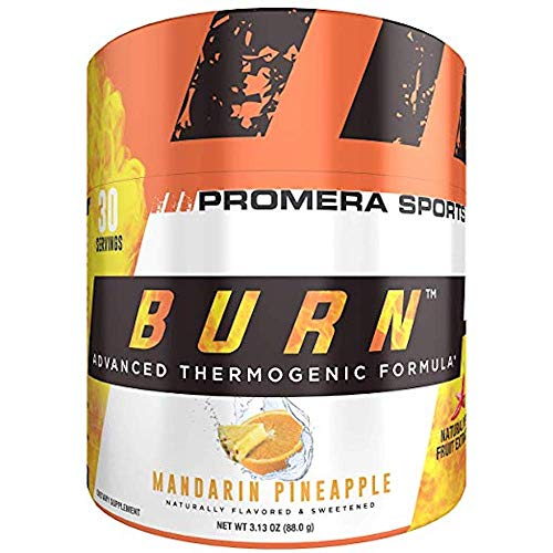 ProMera Sports BURN, Mandarin Pineapple, 30 Servings, Thermogenic Fat Burner Powder for Weight Loss, Fat Burners for Men & Women