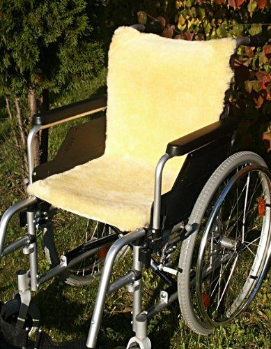 Förster-Fellnest Rollstuhlauflage aus echtem Lammfell - Dichte und stabile Ware für hohe Atmungsaktivität und Druckentlastung 45x85 cm