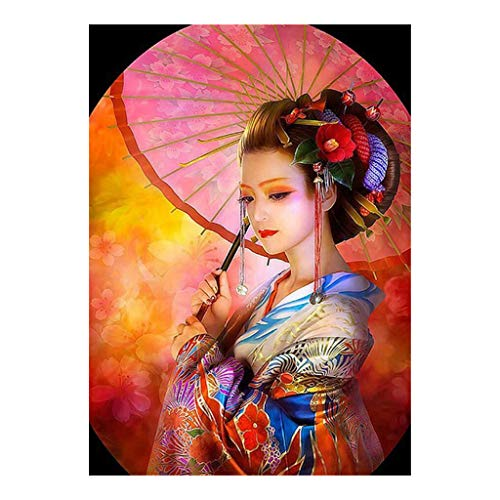 Vivianu 5D Diamond Painting Kits for Adult Full Drill Paint with Diamonds for Home Wall Decor A Woman Carries an Umbrella