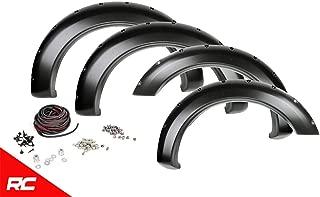 Rough Country Pocket Fender Flares Flat Black (fits) 2008-2010 Super Duty F250 (F-250) F350 (F-350) F-F20811