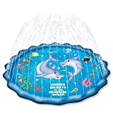 EPN Sprinkle Pad for Kids Splash Play Mat for Toddlers Baby, Upgraded 67' Summer Outdoor Water Toys Wading Pool Outside Water Play Mat for 1-12 Years Old Children Boys Girls