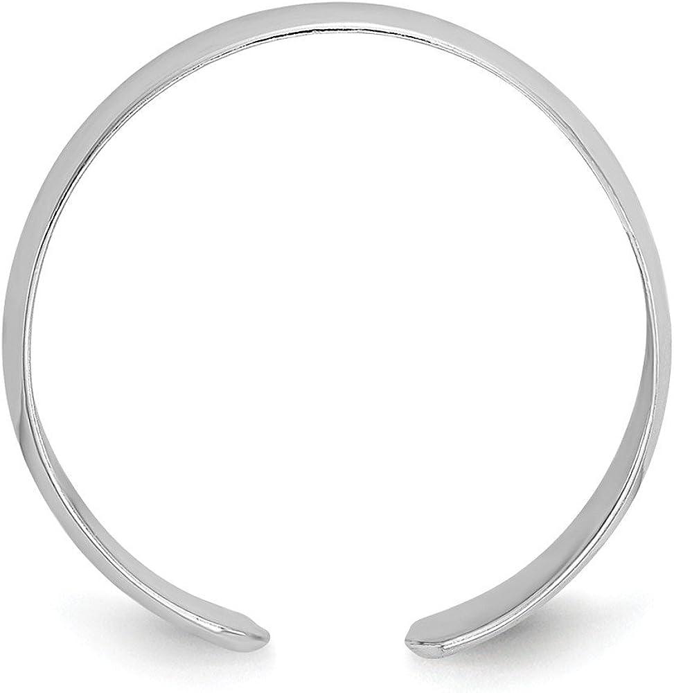 14K White Gold Plain Polished Toe Ring