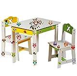 alles-meine.de GmbH 1 Stück _ Stuhl für Kinder - stabiles Holz -  weiß / gelb  - Beistellstuhl / Kinderstuhl - für Jungen & Mädchen - Kindermöbel - Kinderzimmer für Circa 1 - 3..