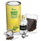 Heim-Set zur Gin-Herstellung, in Geschenk-Box, mit Wacholderbeeren