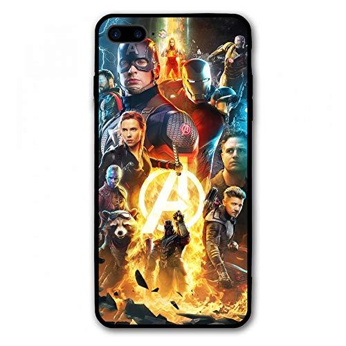 iPhone 7 Plus Case iPhone 8 Plus Case Endgame Comic Design Cover Cases for iPhone 7/8 Plus 5.5' (Avengers-Gold)