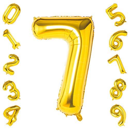40 Inch Grote Goud Aantal 0-9 Ballonnen, Foil Helium Digitale Ballonnen voor Verjaardagsfeestdecoratie gold seven