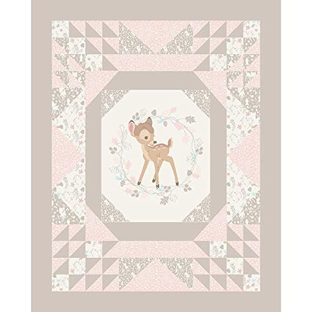 Disney Bambi Cheater Quilt Panel 100% Cotton Fabric by The Yard