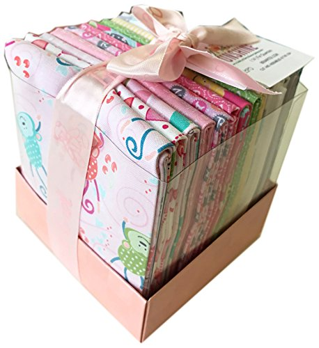 Cherry Guidry MY LITTLE SUNSHINE GIRL Fat Quarter Bundle Box 14 Precut Cotton Fabric Quilting FQs Assortment Benartex