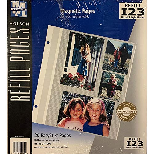 powerful Holson / Burnes EasyStik Magnetic Refill Page for Bound Albums The price is 2 – 8×10.