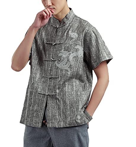 Männer Chinesische Hemd Tops Tang Anzug...