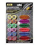 Cepewa - Reflectores para radios de bicicleta (18 piezas), multicolor