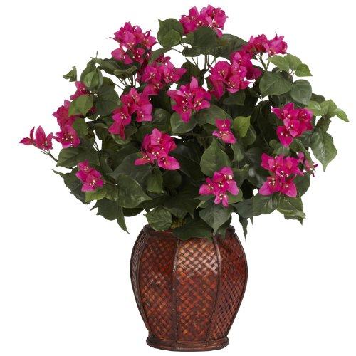 Nearly Natural 6652Bougainvillea con jarrón Decorativo Seda Planta Belleza