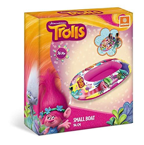 TROLLS Bateau Gonflable 94 cm pour Plage ou Piscine Bracelets et flotteurs Natation et Waterpolo Unisexe Enfant (Multicolore) Taille Unique
