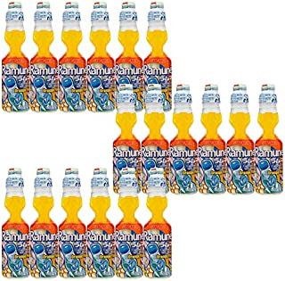 Sangaria Ramune, 6.76 Fluid Ounce (Orange, 18 Bottles)