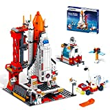 Space Shuttle Toys Building Blocks Sets for 6 7 8 9 10 11 12 Year Old Boys STEM Toy Building Kit with Mini Astronaut&Launch Control Center Spaceship Building Set Best Gifts for 6-12 Years Old (807pcs)