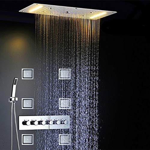 GYL Juego de Ducha LED Multifunción Spray Lateral en la Pared Lluvia Neblina Cascada Columna de Agua para el Baño