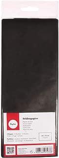 Rayher 67270576 Seidenpapier, schwarz, 50x75cm, 5 Bogen, 17g/m², lichtecht, farbfest, leicht transparentes, dünnes Papier, Geschenkpapier, Papier zum Basteln