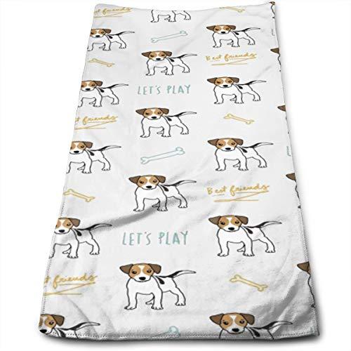 YudoHong Toallas de Mano Grandes Jack Russell Dog Soft High Absorbent