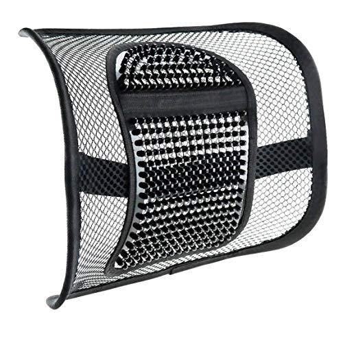 Vinsani® Super Comfort Mesh Lumbar achterbank zitsteun systeem met massage knooppunten - pijn verlichting voor bureaustoel stoel met elastische positionering riem