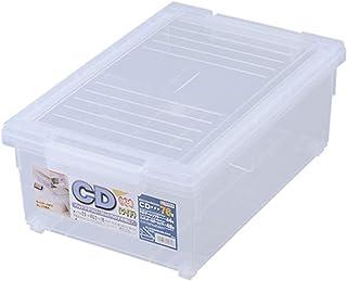 天馬(Tenma) ディスク収納ボックス クリア 幅29×奥行46.5×高さ18cm CDいれと庫 ワイド