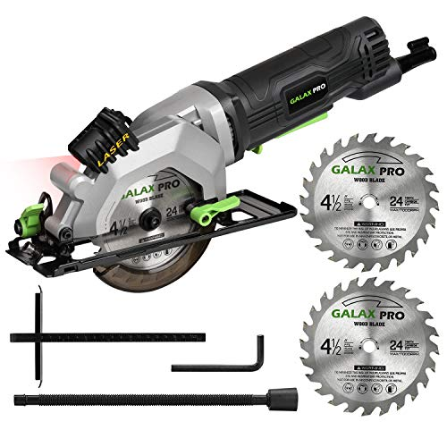 GALAX PRO 4Amp 3500RPM Circular Saw with Laser Guide, Max. Cutting...