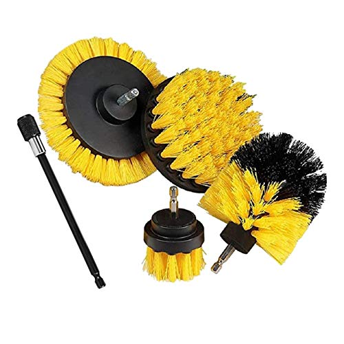 harayaa Juego de Accesorios de Cepillo para Taladro Kit de Limpieza de Depurador Eléctrico - Amarillo, Individual