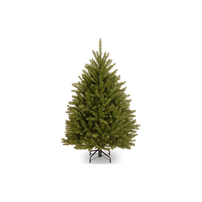 silk flower arrangements national tree company artificial christmas tree  includes stand   dunhill fir - 4.5 ft