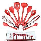 ZYYX Utensilios De Cocina Utensilios De Cocina Conjunto 10piece con Una Espátula Gadgets De Cocina De Utensilios De Cocina, Cocina Mejor Sistema De Herramienta Red