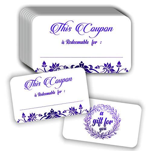 Coupon Cards (Pack van 50) Premium Paarse folie Stempelen 3.5