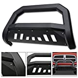 VXMOTOR for 02-05 Dodge Ram 1500; 2006-09 1500 Mega (Extended Crew) Cab ; 2003-2009 2500/3500 Matte Black AVT Style Edge Bold Bull Bar Brush Push Front Bumper Grill Grille Guard with Skid Plate